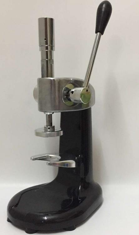 Tamper de caf/é Blanco 57mm Pr/áctico manipulador de caf/é de aluminio de mano con mango para cafetera
