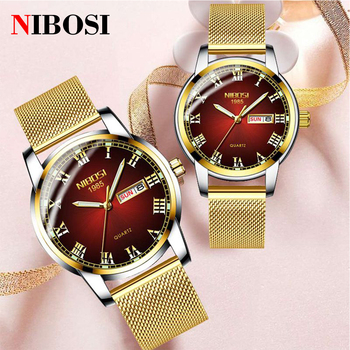 Luxury Couple Watches for Lovers Watch Ladies Dress Quartz Clock Wrist Watches Golden Fashion Gifts for Men Women Wristwatch couple watches for lovers luxury wood watch mens fashion wooden women dress clocks gifts for valentine s day relogio de casal