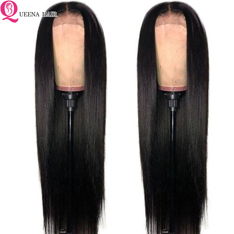 Image 3 - Transparent Lace Front Human Hair Wigs For Black Women Peruvian Straight Lace Frontal Wig Pre Plucked Remy 13x4 front lace Wigs-in Human Hair Lace Wigs from Hair Extensions & Wigs