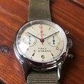 Mannen Piloten ST19 Chronograaf Acryl/Saffierglas Wijzerplaat Mannelijke NATO Strap Skeleton heren Pilot Mechanische Horloges