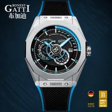 GATTI 2020 New Mens Watches Top Brand Leather Casual Men Sport Waterproof Clock