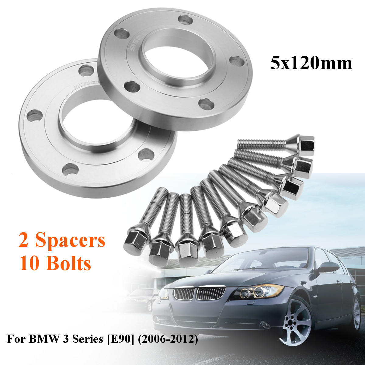10mm alloy wheel spacers shims 10 x 35mm Thread extended bolts to fit BMW