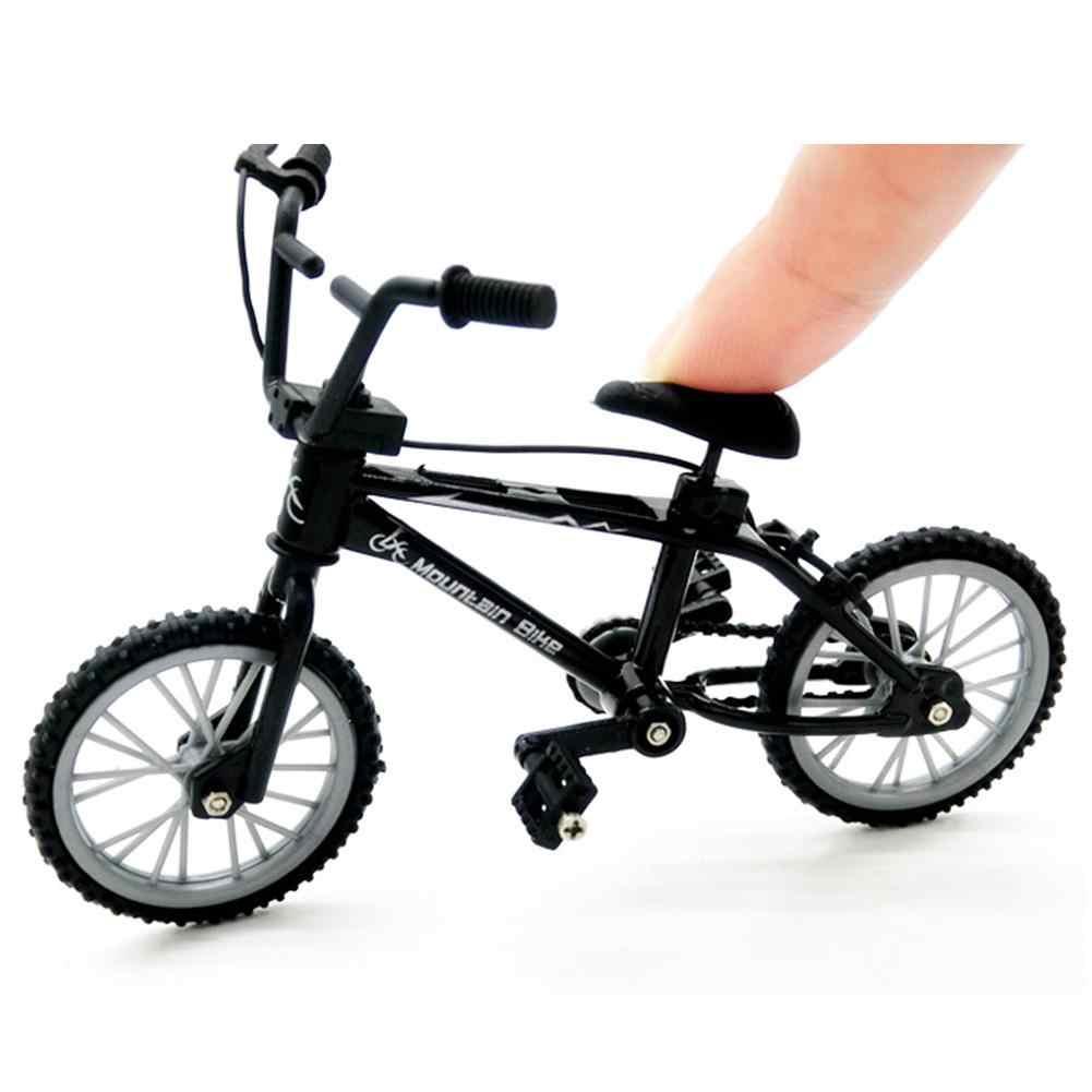 Mini Legering Fiets Model Diecast Metalen Vinger Mountainbike Racing Speelgoed Bocht Road Simulatie Collectie Speelgoed Voor Kinderen 1:10