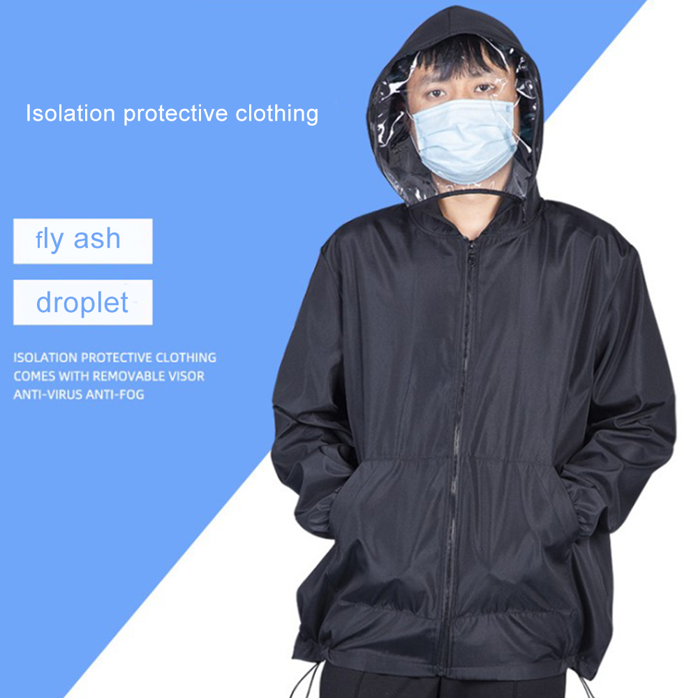 Anti-Coronavirus Unisex Protective Jacket with Visor Mask Attached
