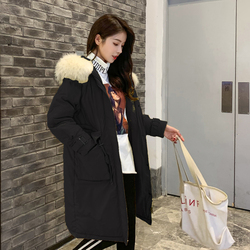 -30 Degrees Winter Women Long Parkas Jackets Plus Size M-5XL Thick Warm Big Fur Collar Female Slim Sintepon Parkas Outwear Coat 6