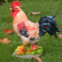 Outdoor Rooster Statue Ornament Resin Cock Animal Sculpture Home Furnishing Craf