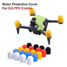 4 шт. Мотор крышка для DJI FPV Combo Drone Soft Hat Engine Protector пыленепроницаемый крышка чехол защита для FPV Combo аксессуар