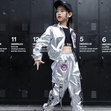 Boys Hip Hop Jacket Girl Jazz Jogger Pants 2 Pcs Set Kids Sequins Street Dance Outfit Teen Shining Children Costume Streetwear