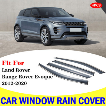 For Land Range Rover Evoque car rain shield deflectors awning trim cover exterior car-styling accessories parts 2012-2020 abs chrome for land rover range rover evoque 2012 car door and window glass lifting switch cover trim car styling