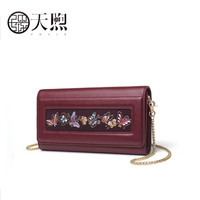 Pmsix 2020 New women Leather bag fashion handbags women famous brands embroidery clutch bag women leather shoulder bag p 510017