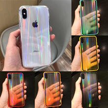 Shiny Gradient Rainbow Laser Case for iPhone