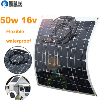 flexible panel solar 50w 12v Portable Charger Kits home mono 5v usb for phone 12v battery RV Car Boat Camping Hiking Waterproof ggx energy waterproof 8w 5v portable folding mono solar panel charger usb output controller pack for phones iphone psp mp4