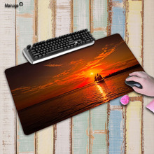 Boat Sailing in The Sunset and Sea Computer Gaming Large Mousemats Size for 30x60 40x90cm Rubber For CSGO Mouse Pad