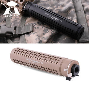 Hunting AEG Airsoft  KAC Style QD 14mm Silencer with QD Flash Hider