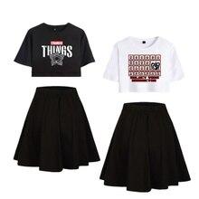 Stranger Things T Shirt Cosplay Running T shirt Skirt Stranger Things Dustin Costume Eleven Stranger Things Dress Sport Suits