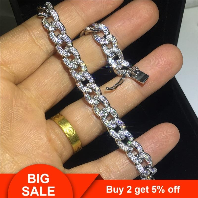 Tennis-Bracelet Jewelry Gold Statement Women Fashion Cz-Stone White for 29-Styles Party