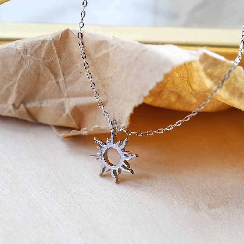 OBEAR シルバーメッキエスニック太陽トーテムペンダントチャーム女性誕生日パーティーファッション宝石トレンディギフト