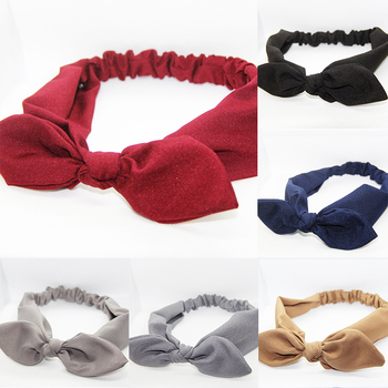 Retro Women Headbands Bunny Ears Hairbands Knotted Cross Turban Female Strech Bandage Bandanas Headwrap Girls Hair accessories image