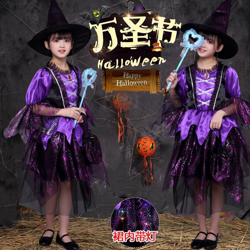 Halloween Children Clothing Snow Skirt Girls Christmas Makeup Ball Princess Dress Small Witch Vampire