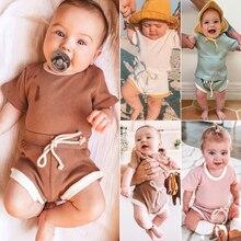 T-Shirt Summer Newborn Fashion Boys Cotton Short Tops Outfit-Set Sports-Clothes Baby-Girls-Boys
