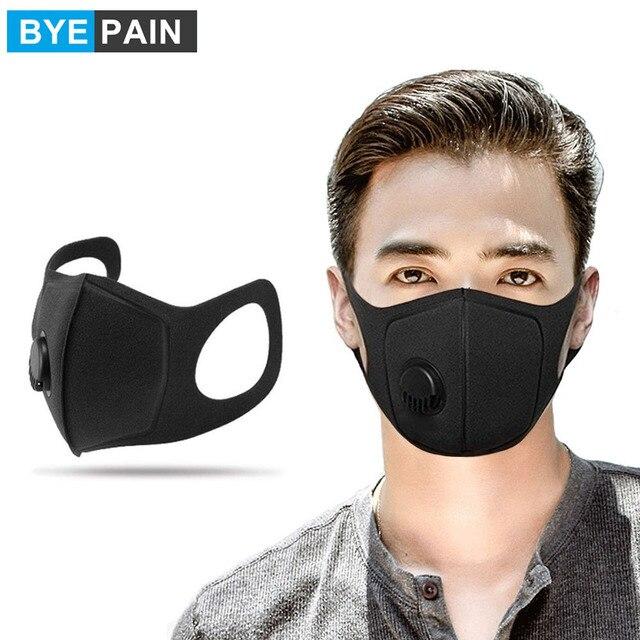 2Pcs BYEPAIN נשימה מסכת גרסה משודרגת גברים נשים Pm2.5 אבקת 3D קצוץ לנשימה שסתום פה מסכה