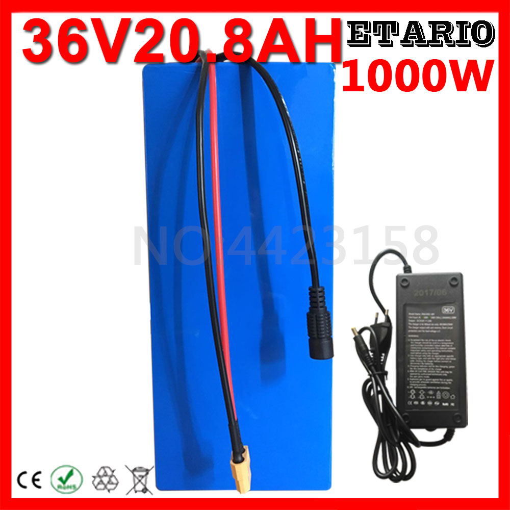 Hot Sales 36 Volt Lithium Battery 36V 20AH Electric Bike Battery 36V 20AH 1000W Scooter Battery with 30A BMS 42V 2A Charger