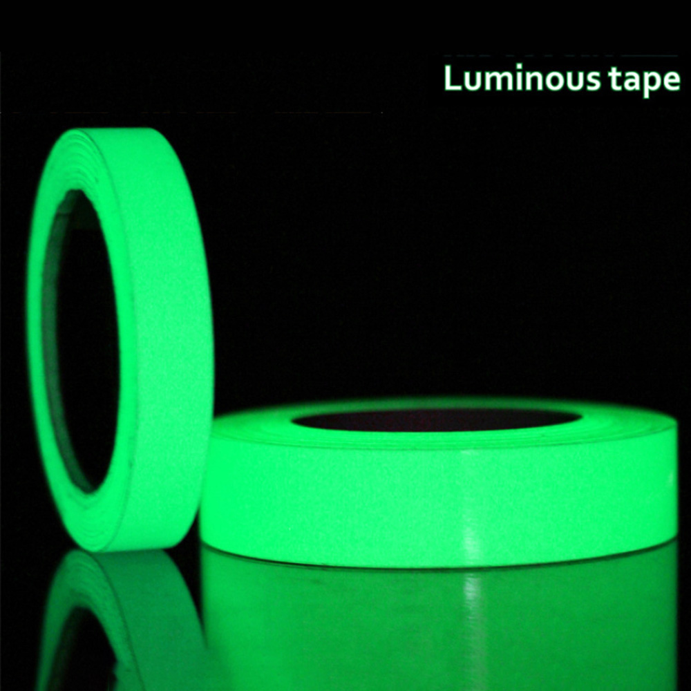 3 10 Meters /Roll Luminous Tape Glow in the Dark Tape Wall Sticker Waterproof Self-adhesive Green Light Sticker Home Decoration image