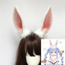 New Hande Made Work Holorive Rabbit Bunnyears Hairhoop USADA Pekora Cosplay Prop For Halloween Christmas Costume Accessories