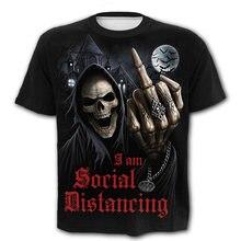 Лидер продаж футболка триллер скелет демон средний палец 3d