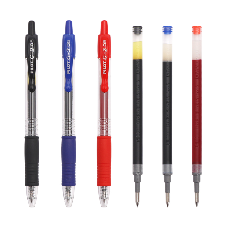 Pilot G2 Retractable Premium Gel Ink Roller Ball Pens Refills Fine Pt 0.7mm 0.5mm Japan Face Man Office & School Pen