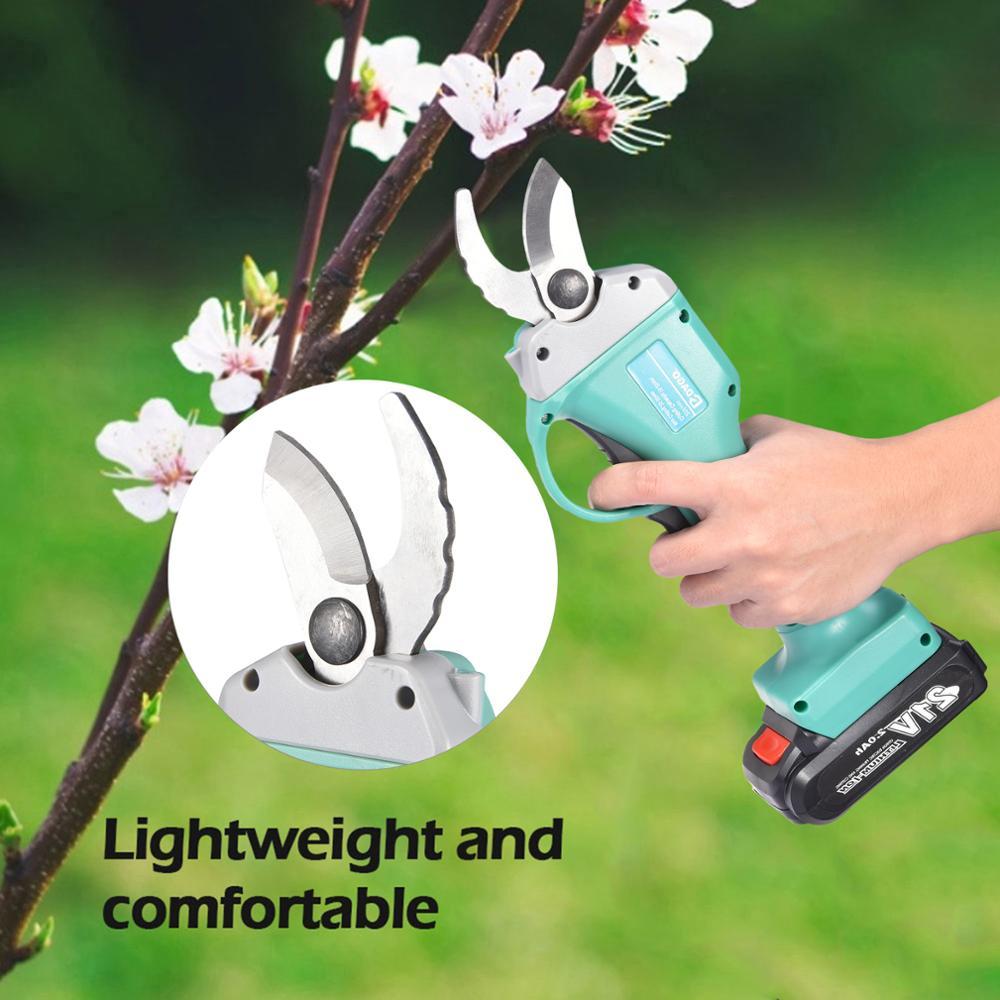 Electric Pruner Cordless Pruner Trimmer Lithium Battery Pruning Shear Tree Branch Bonsai Cutter Landscaping Scissors Garden Tool