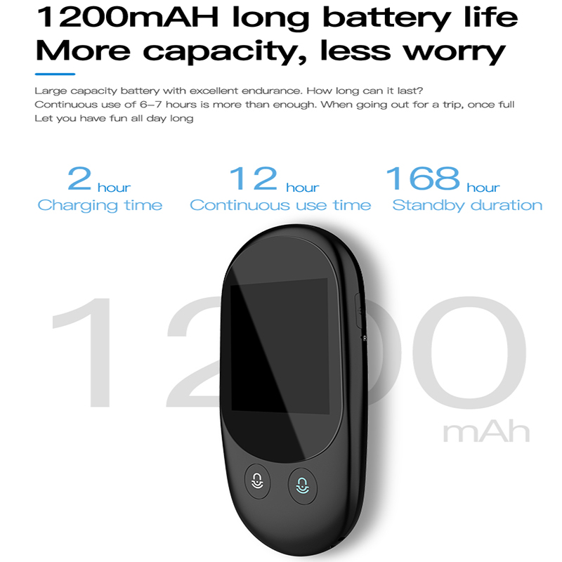 Voice and Photo Scanning Pocket Language Translator with 2.4 Inch Touch Screen and WIFI Supports 79 Languages and Offline Translation 2