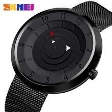 SKMEI Luxury Waterproof Male Quartz Wristwatches Simple Compass Style Men Business Watches montre homme Clock reloj hombre 2019