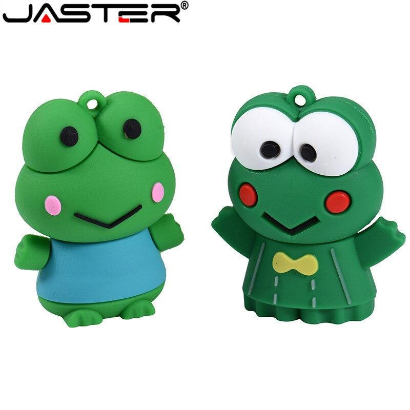 JASTER Cartoon Cute Frog Model Usb 2.0 4GB 8GB 16GB 32GB 64GB Pen Drive USB Pendrive Flash Drive Creative U Disk
