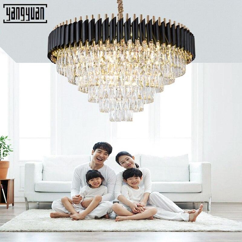 LED hangende lamp For a Woonkamer Cristal Lustre Kroonluchter Verlichting Plafond lichtpunt lamparas de techo colgante moderna