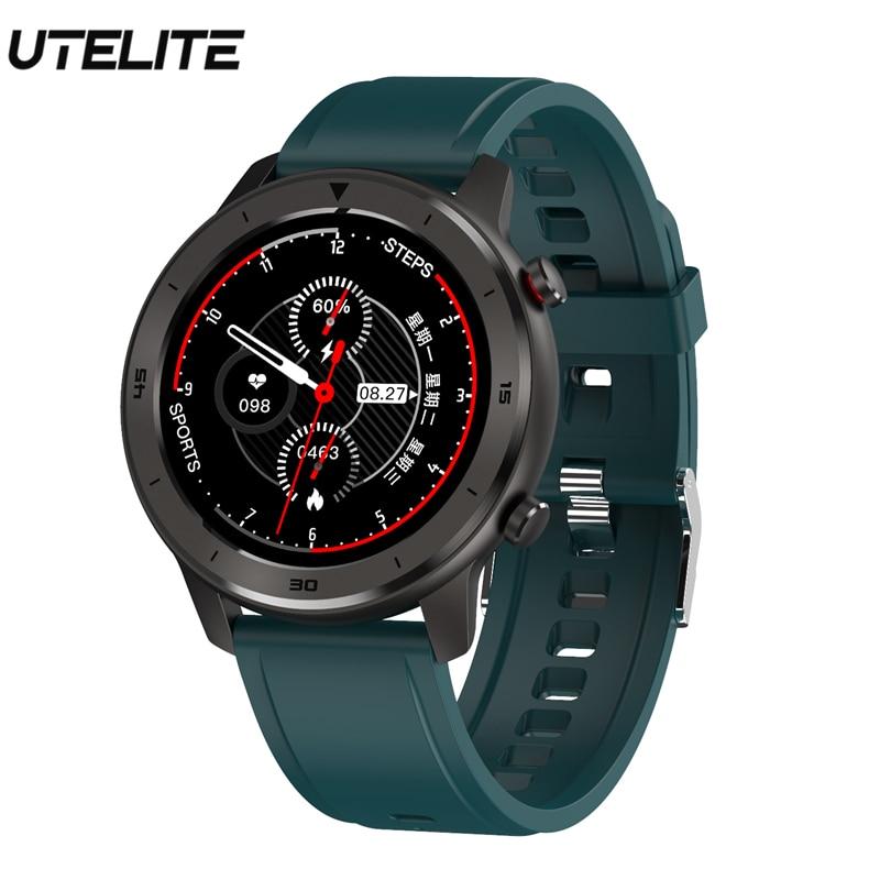 UTELITE DT78 Smart Watch Men Women Full Touch Screen Fitness Activity Tracker Band Heart Rate Monitor IP68 Waterproof Bracelet
