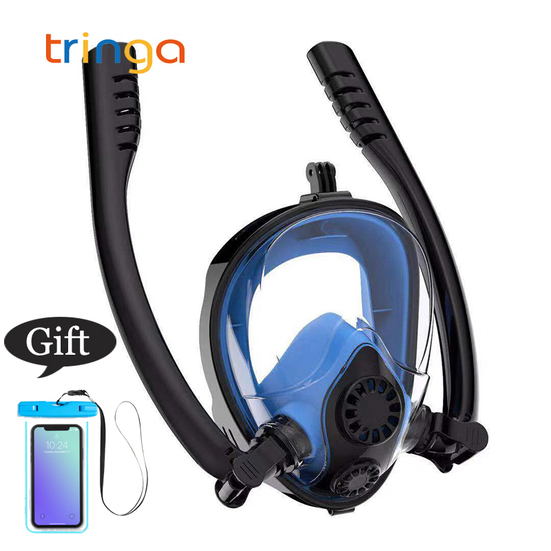 New Diving Mask Scuba Mask Underwater Anti Fog Full Face Snorkeling Swimming Diving Mask K2 Breathing Separation Snorkel Mask
