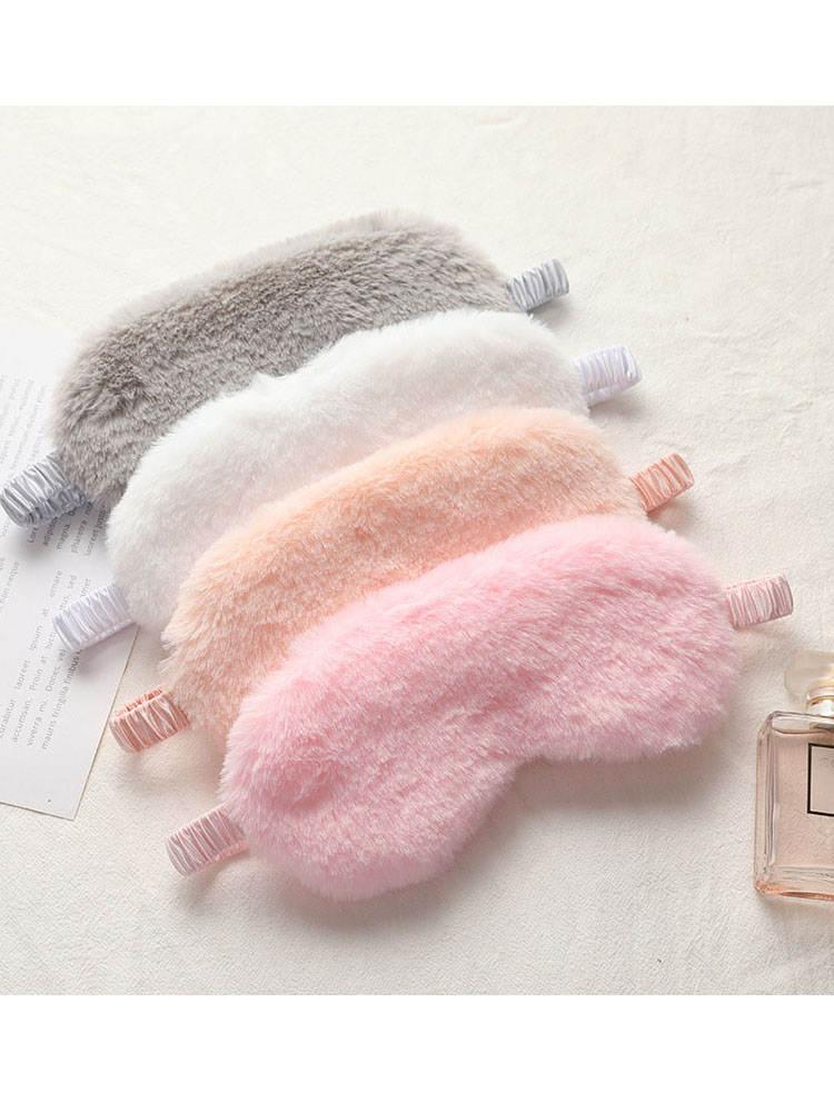 Blindfold Eyepatch Eye-Cover Sleeping-Mask Plush-Eye-Masks Nap Rabbit Cloud Soft Cute