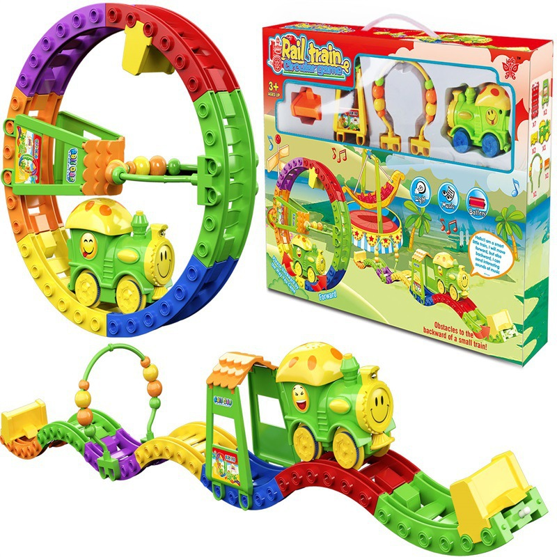DIY Assembled Electric Camera Track Toy Funny Multi-functional Electric Rail Train Children'S Educational Assembled Rail
