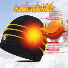 Heated-Hat Beanie Winter Warm Rechargeable Savior Battery Electric