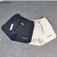 Preto nevoeiro rua essentials shorts de compressão shorts homem curto streetwear calções de treino reflexivo