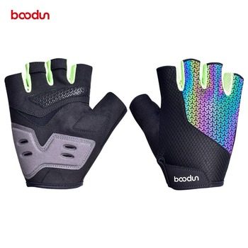 Boodun Summer Colorful Men Women Cycling Gloves Half Finger MTB Gloves Shockproof Breathable Road Mountain Bike Bicycle Gloves boodun summer cycling gloves half finger sports luvas guantes ciclismo road mountain bikes mtb bicycle wrist gloves men women