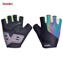 Boodun Летние Красочные мужские и женские велосипедные перчатки
