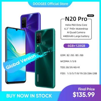 Купить DOOGEE N20 Pro Quad Камера мобильных телефонов Helio P60 Octa Core 6 ГБ Оперативная память 128 Гб Встроенная память глобальная версия 6,3 дюймFHD + безрамочный экран ...