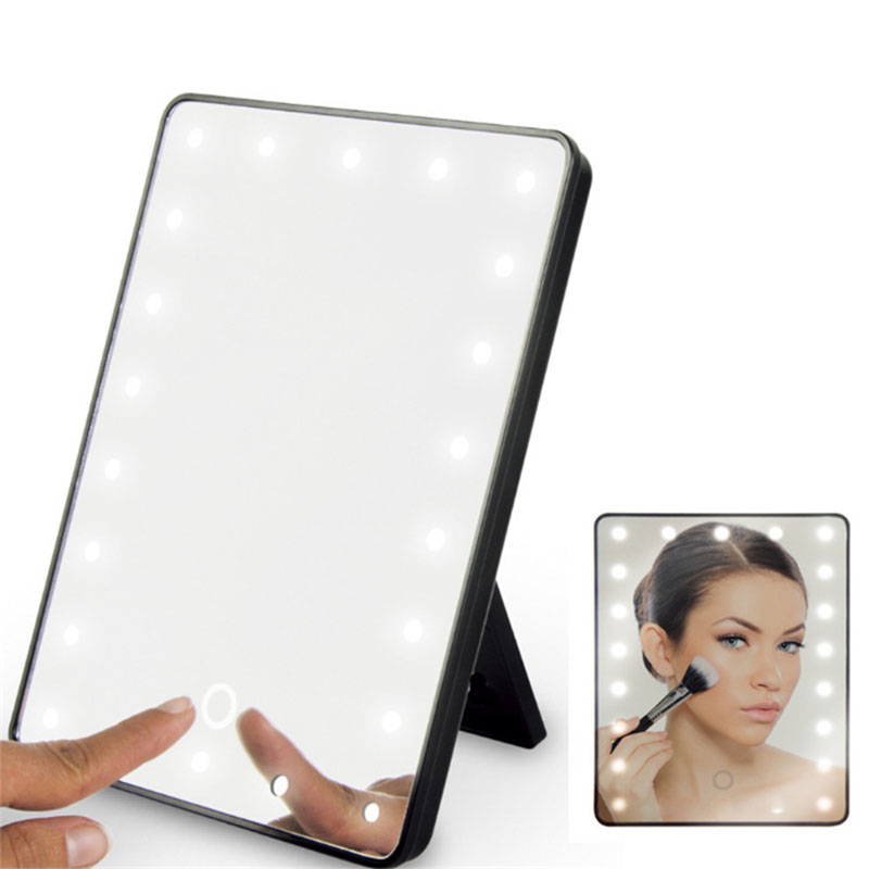 USB Dual Purpose LED Make-up Mirror  Folding Mirror 360 ° Rotating Dressing Mirror