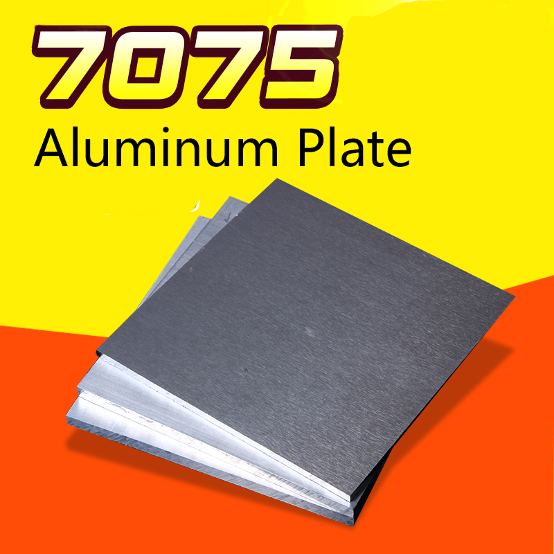 7075 Aviation Aluminum Alloy Plate Sheet Thicked Super Hard Block CNC Lathe Processing Thickness 15/20/25/30mm 100*100/150*150mm