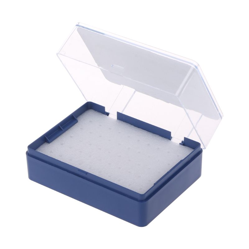 Plastic Storage Box With Foam Milling Cutter Organizer For 50 PCB Drill Bits