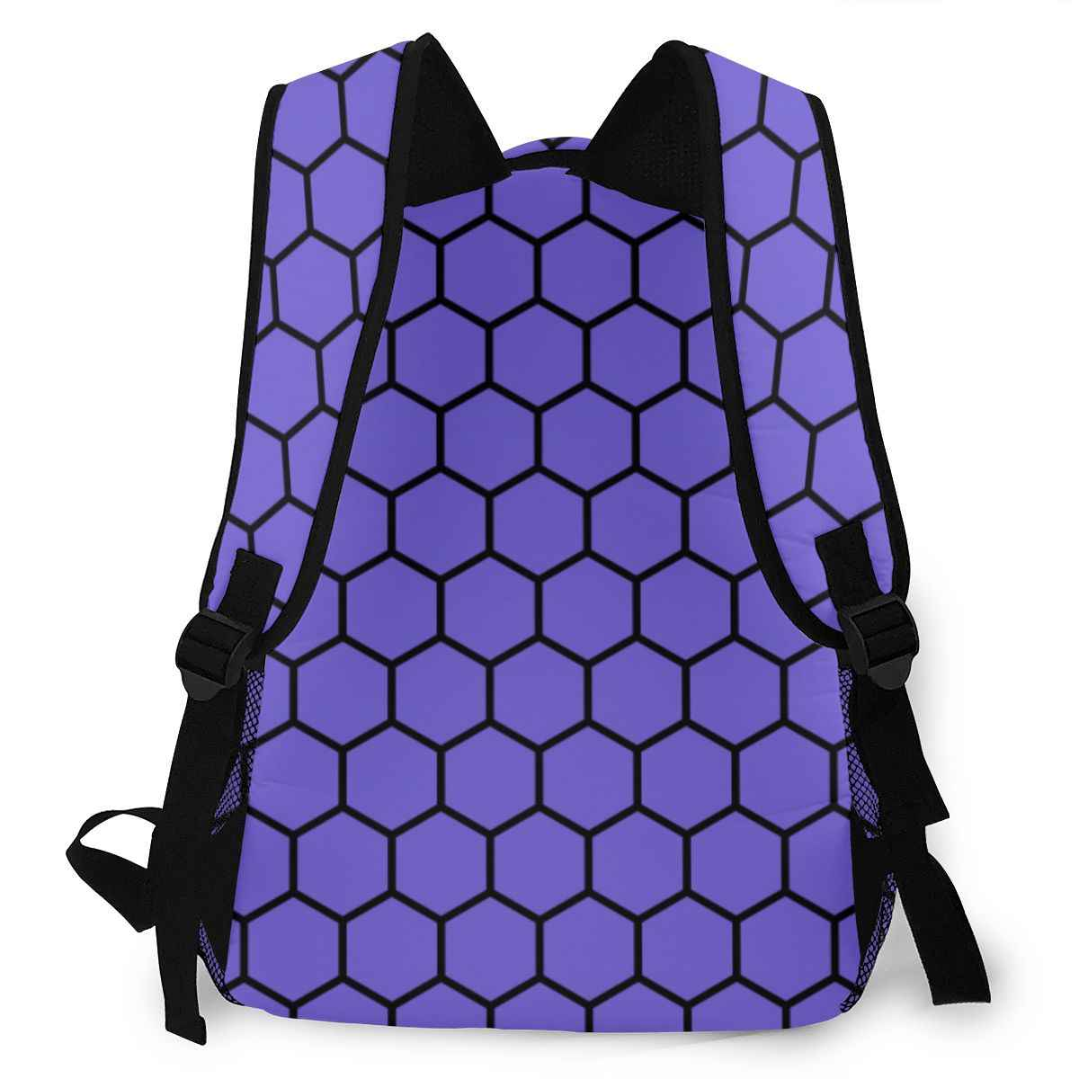 Honey Comb Beehive Pattern Kids Back To School Backpack Book Bag For Boys Girls