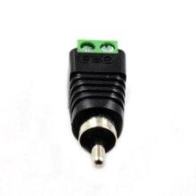 Штепсельный кабель видео адаптер динамик небольшой аудио разъем AV винтовой Терминал аксессуары мужской металлический заменить портативный провод Джек