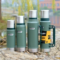 Thermos Cup Water Bottle Water Cup Classic Series Office Outdoor Vehicle Cup stainless steel Bottle QZL106
